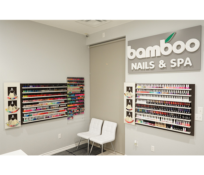 Hundreds of nail polish options