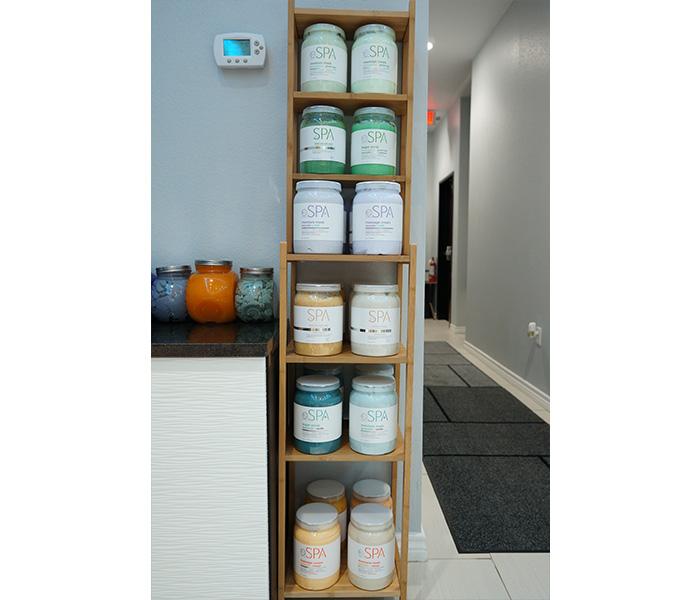 Our BCL Organic Hot Stone Spa Pedicures featuring a sea salt soak, sugar scrub, moisture mask, and massage cream